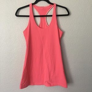 Lululemon Pink Stretchy Cool Racerback Tank Top